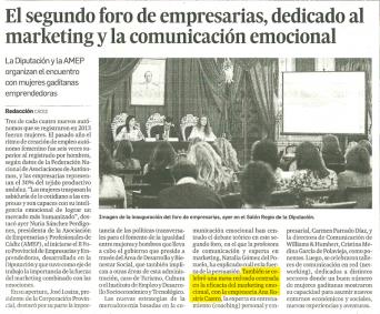 Participación como experta en Marketing en mesa redonda del 2do Foro de Empresarias de Cádiz