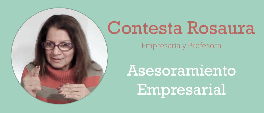 Contesta Rosaura Profesora y Empresaria
