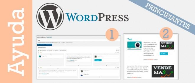 Editor gráfico de arrastrar y soltar para WordPress