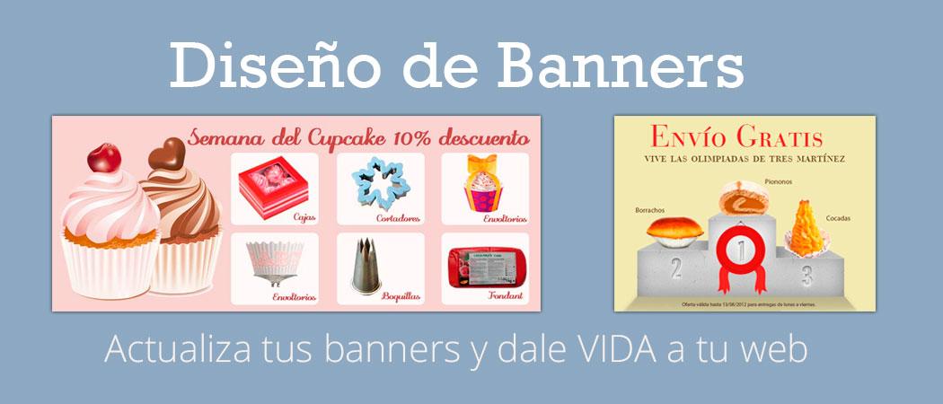 Diseño de banners para tiendas online, para páginas web y blogs