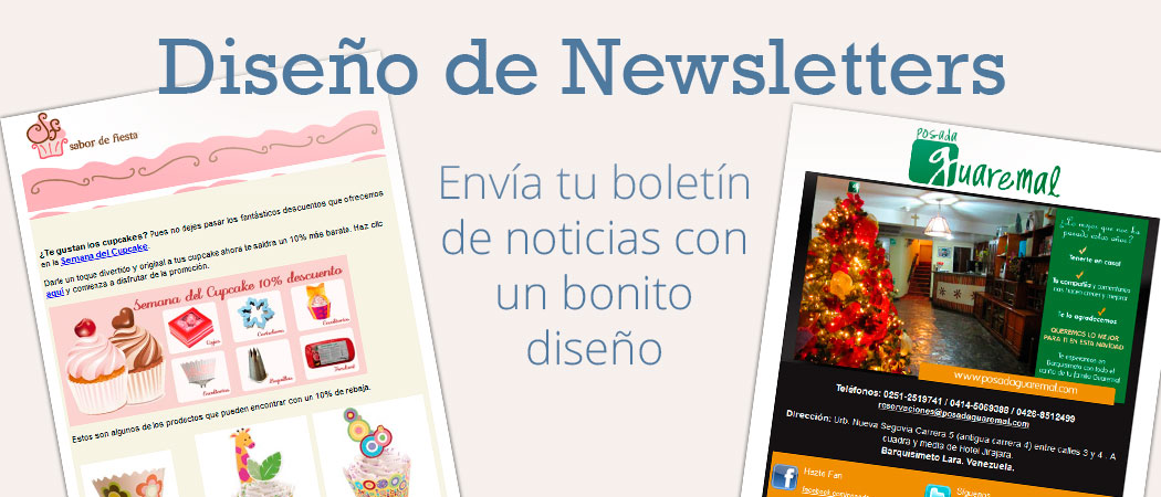 Diseño de newsletter - Email Marketing