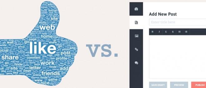 Facebook vs. Blog